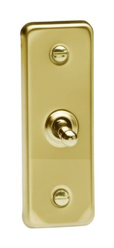 Varilight XVAT1 Architrave Victorian Brass 1 Gang 10A 1 or 2 Way Toggle Light Switch 87mm x 32mm